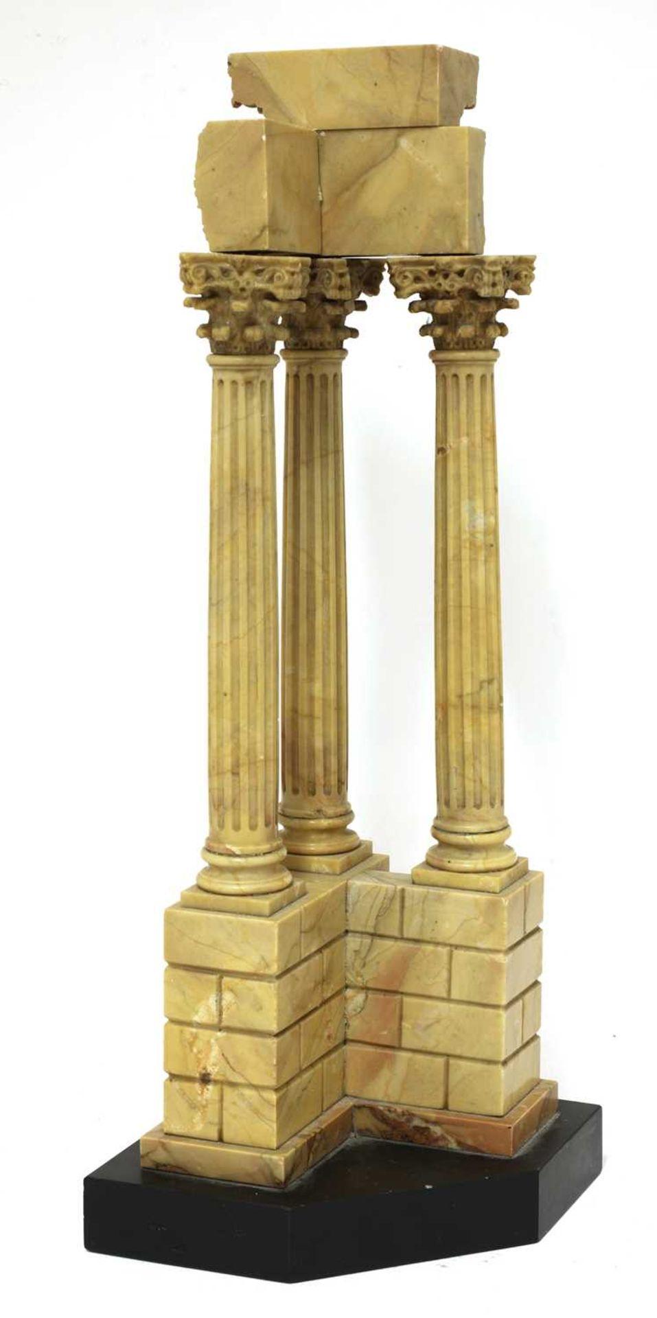 An Italian grand tour giallo antico marble souvenir, - Image 4 of 4