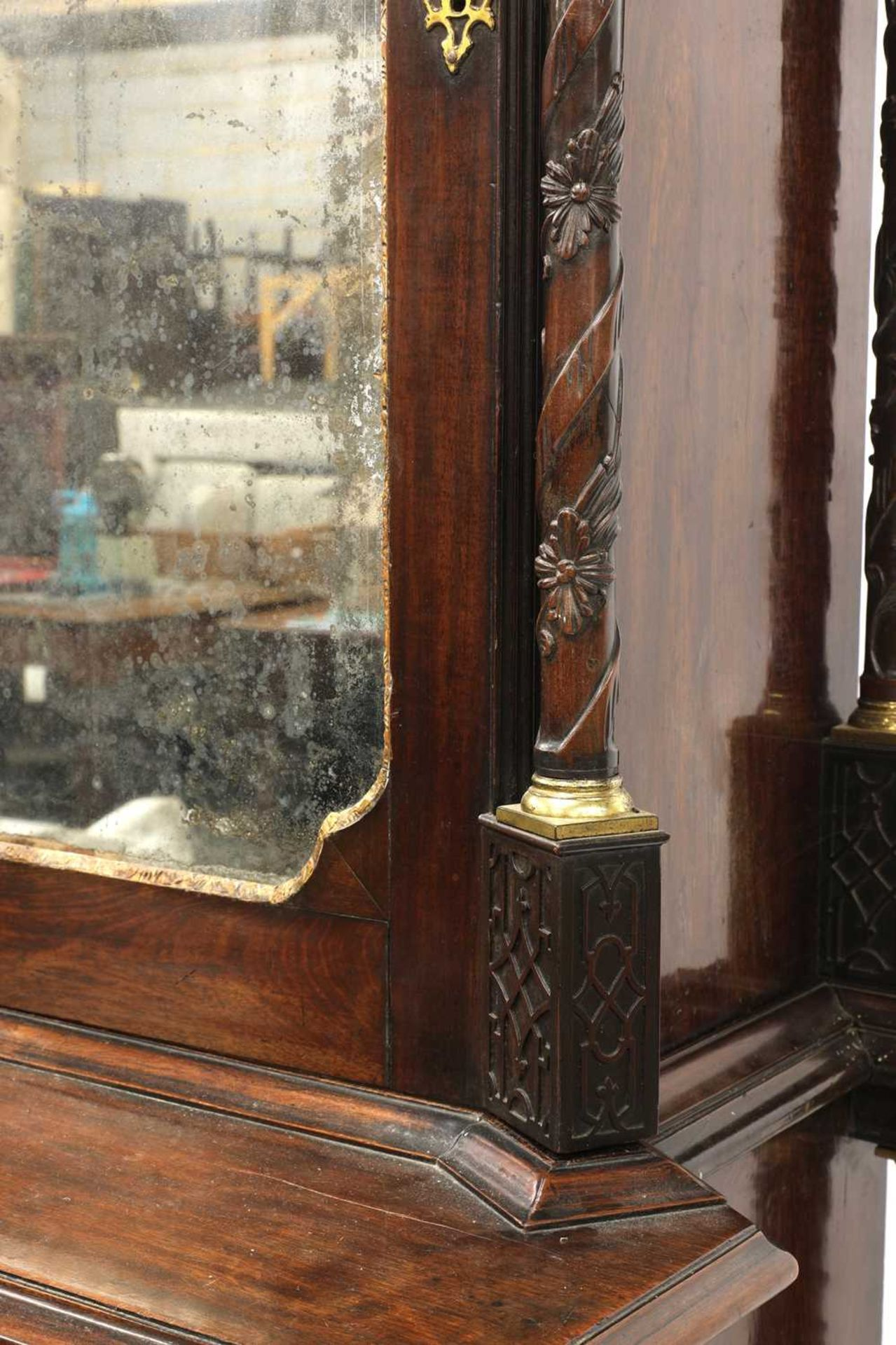 A Chippendale period mahogany secretaire bookcase, - Image 9 of 9
