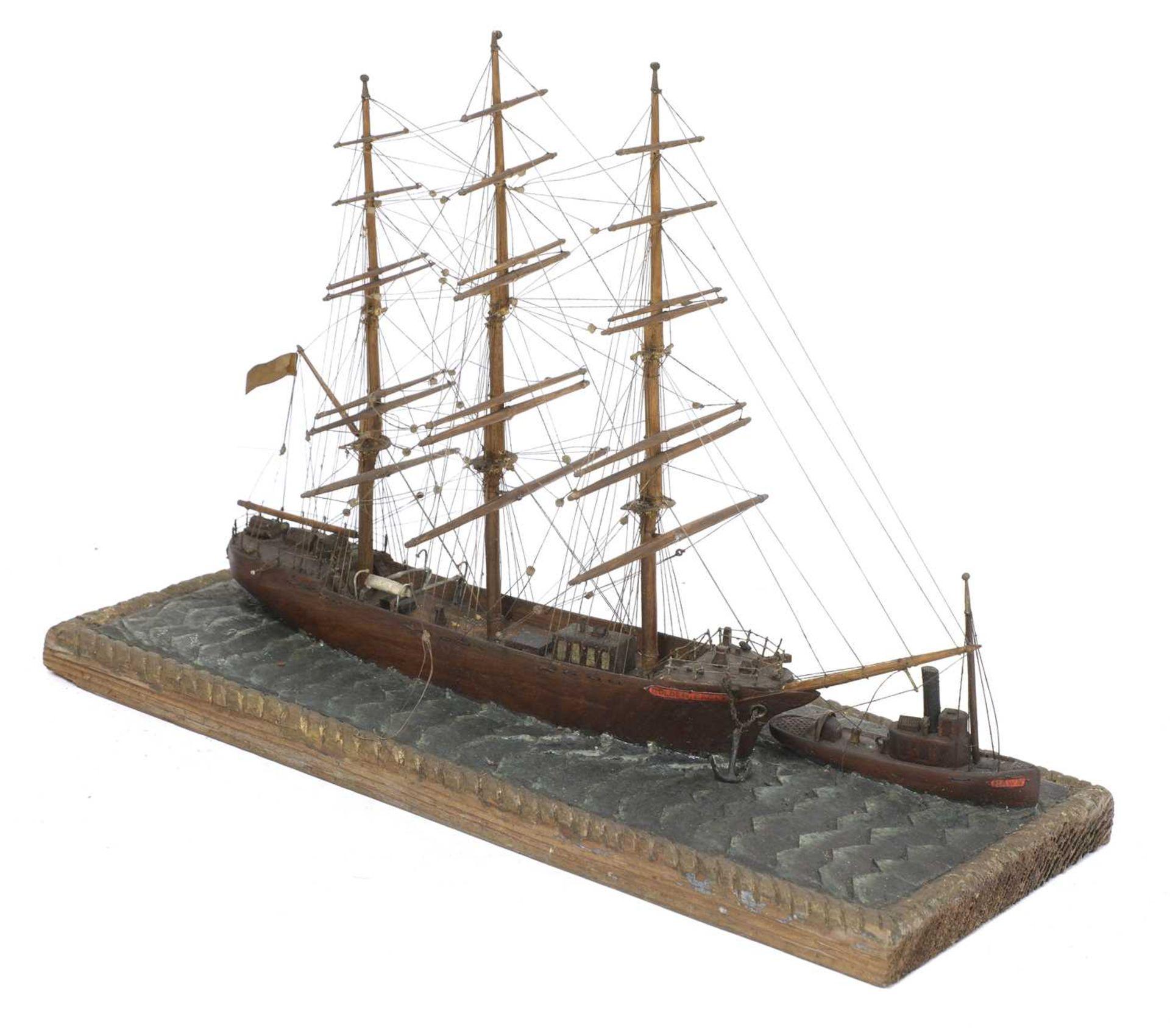 A North American scratch built, folk art, ship model, - Image 2 of 6