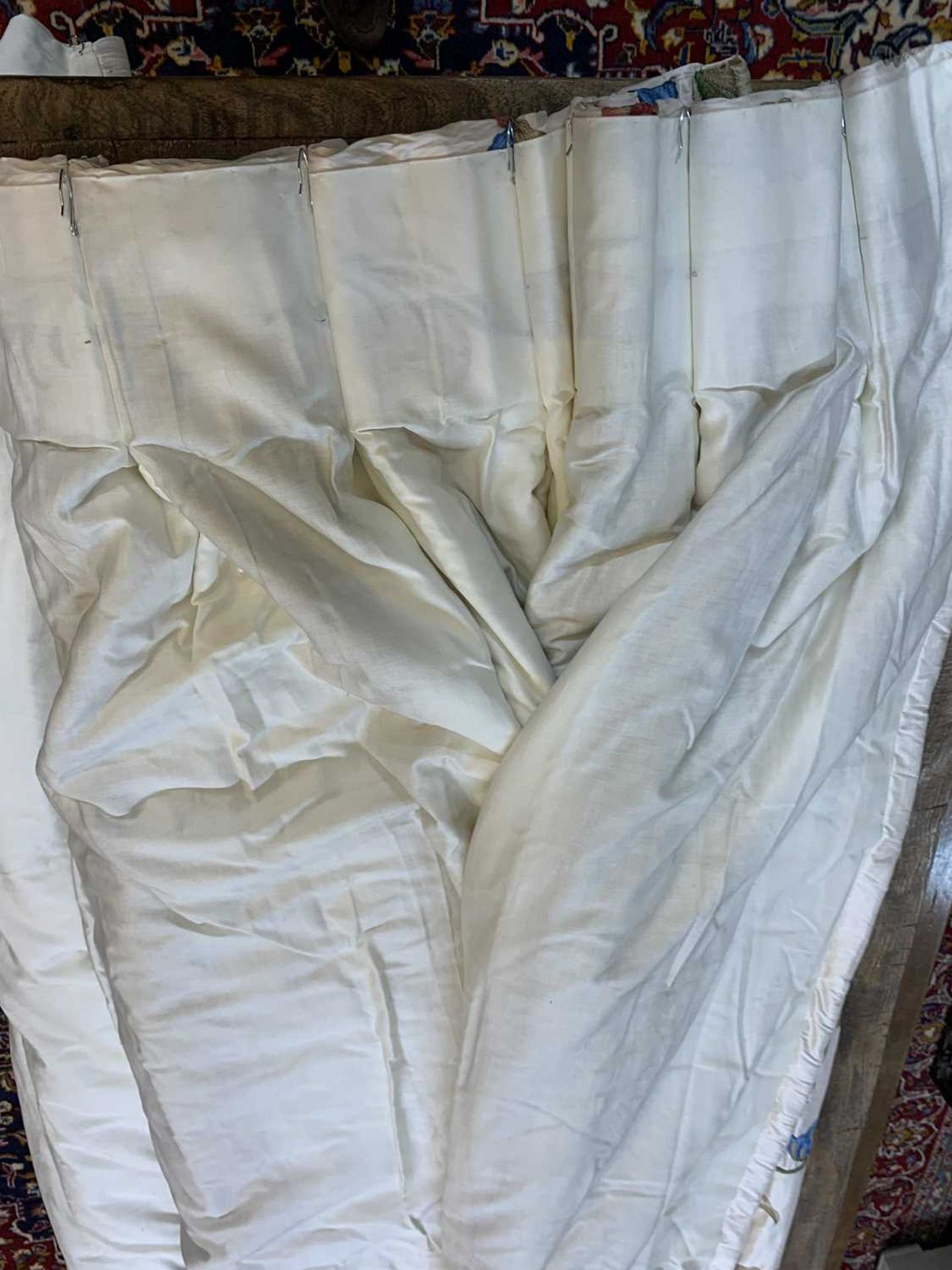Three pairs of lined and interlined silk curtains, - Image 40 of 62