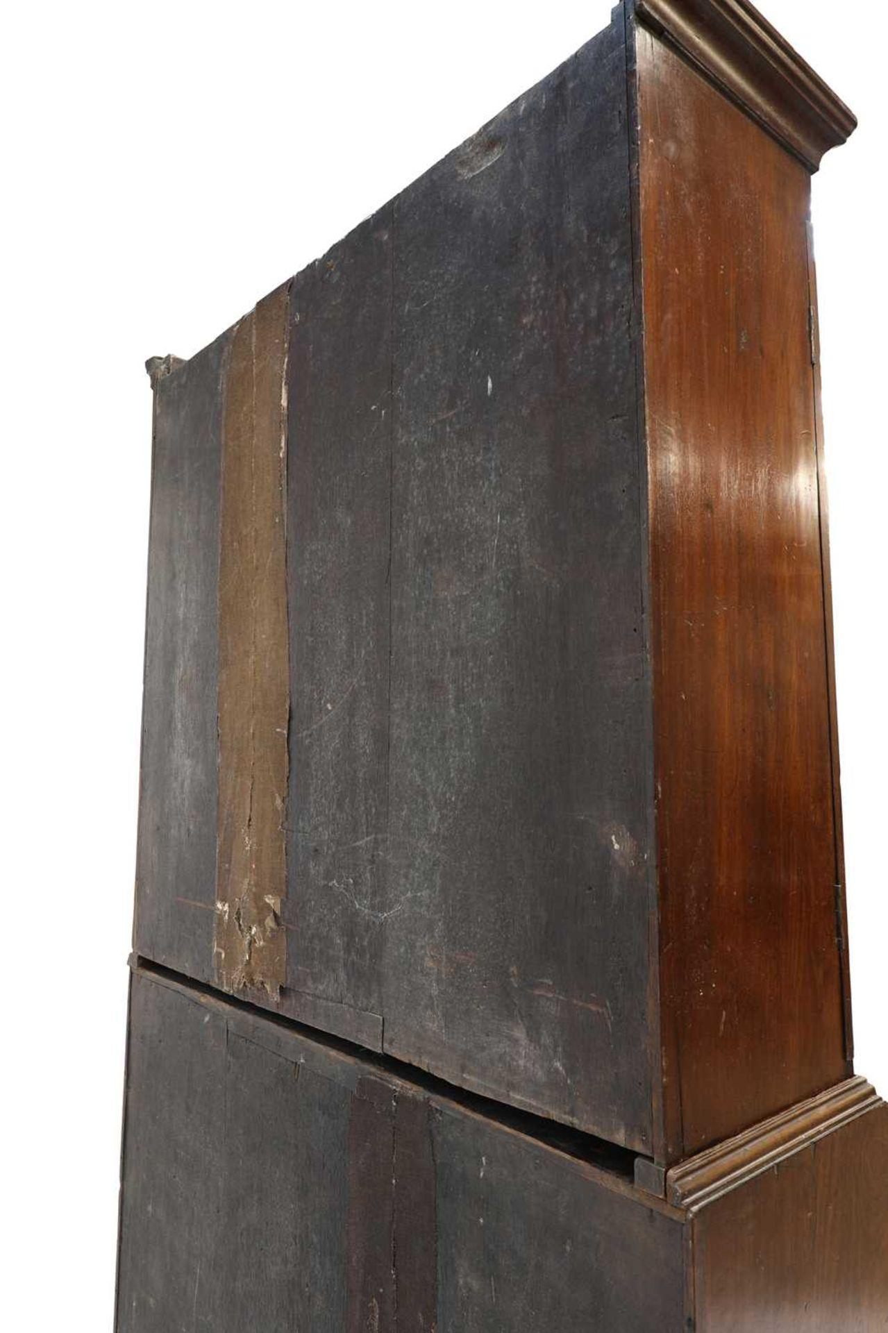 A George III mahogany bureau bookcase, - Image 5 of 6