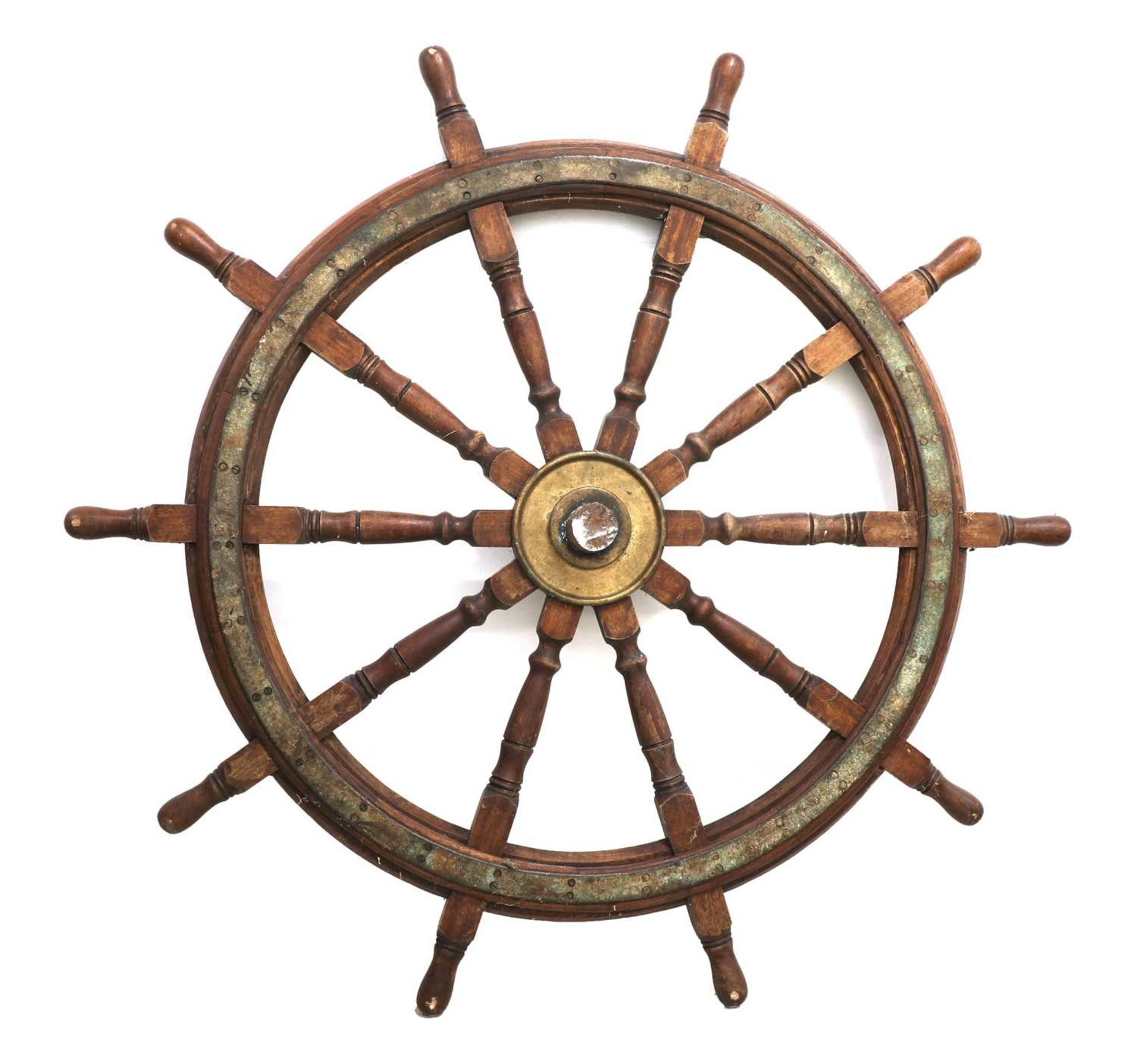 A massive Harland & Wolff ship's wheel, - Image 3 of 3