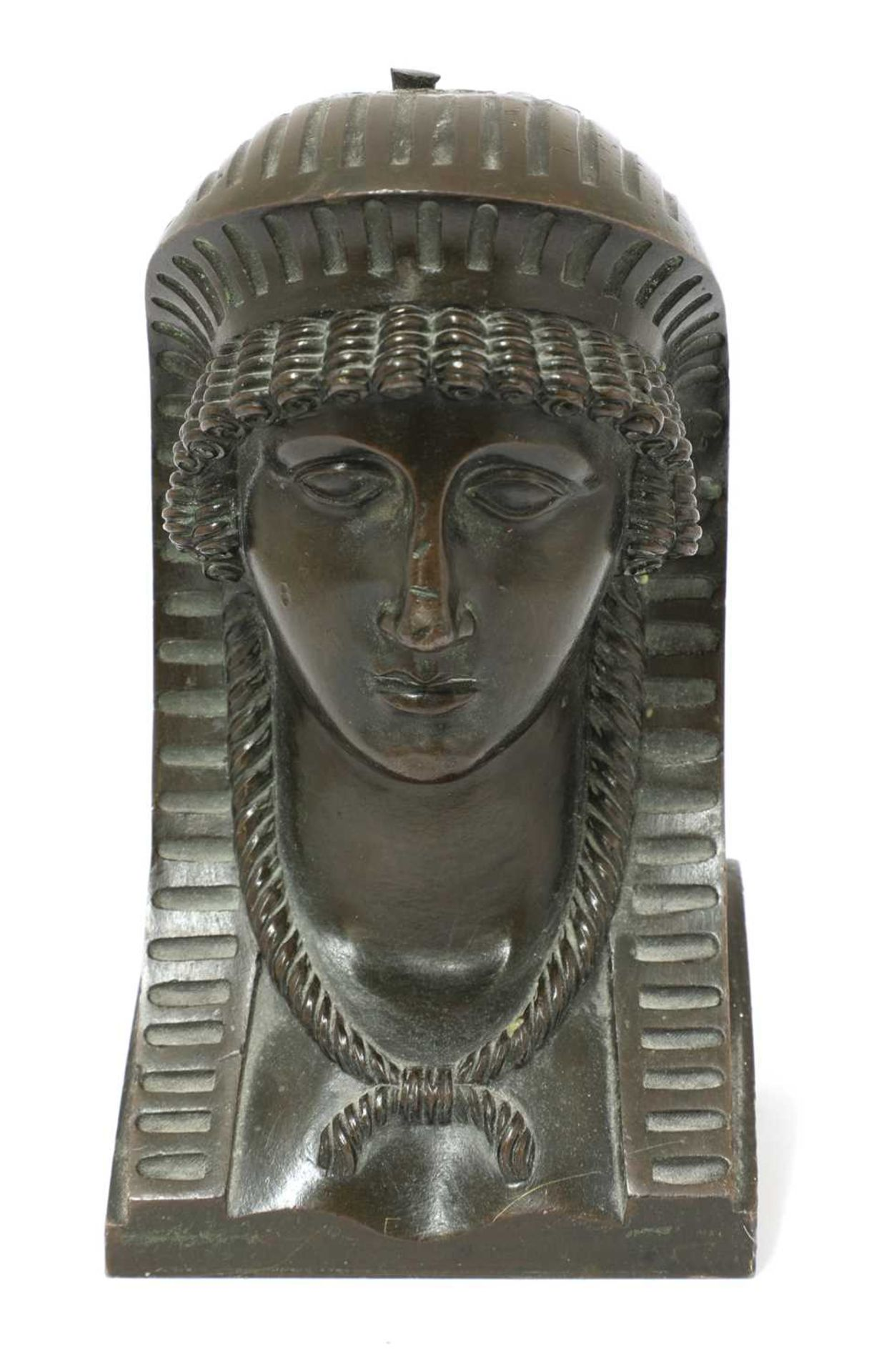 An Egyptian bronze head, - Image 2 of 4