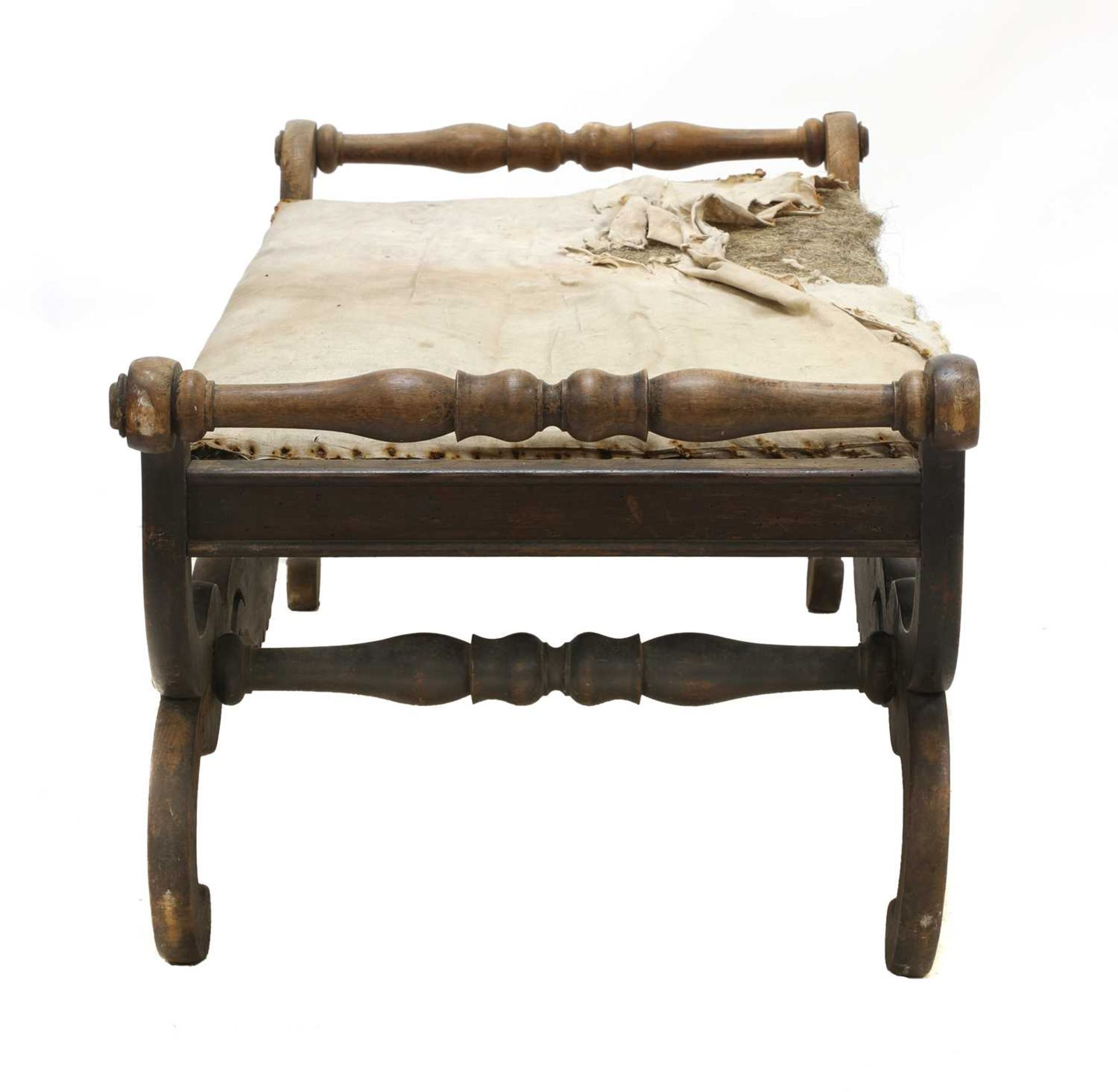 A Continental simulated rosewood window seat, - Image 7 of 10