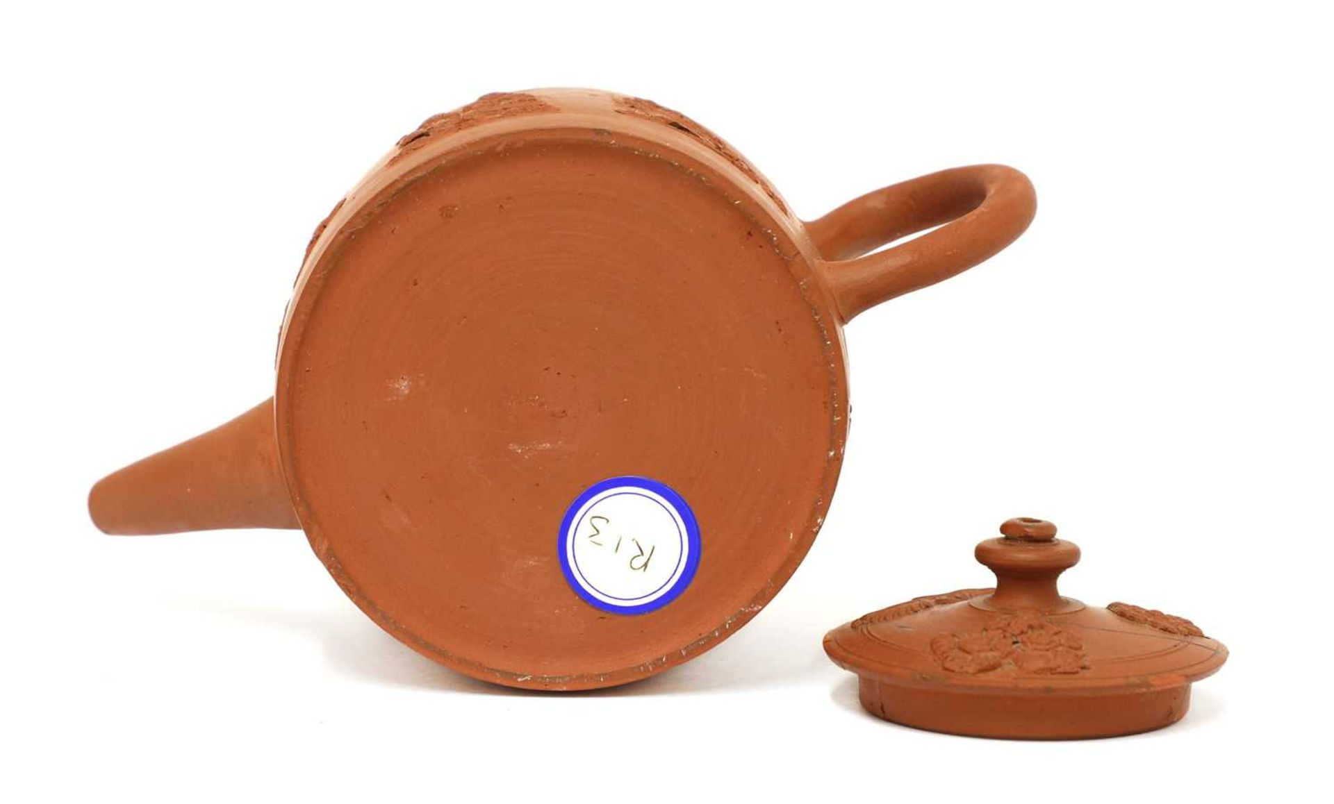A Staffordshire redware small cylindrical teapot and cover, - Image 4 of 4