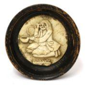 An alabaster pot lid,