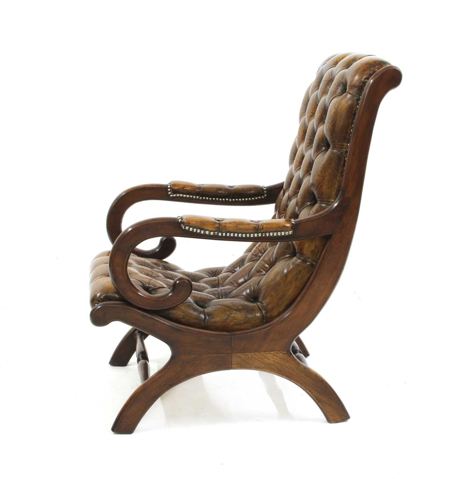 A William IV-style mahogany armchair, - Image 2 of 5