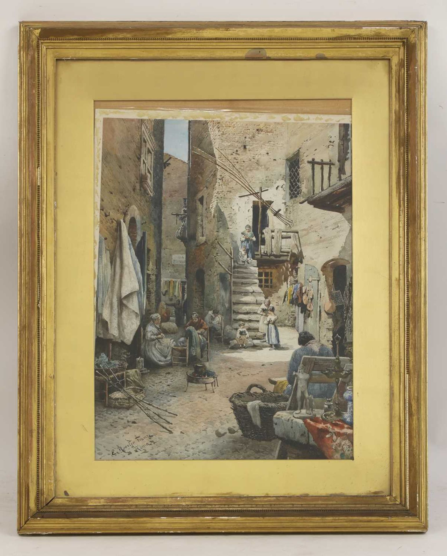 Ettore Roesler Franz (Italian, 1845-1907) - Image 10 of 10