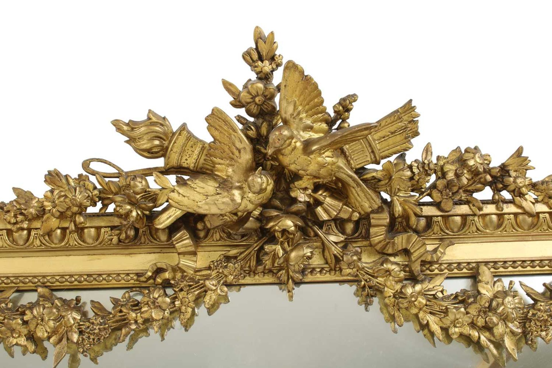 A large gilt-framed wall mirror, - Image 2 of 3