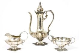 An American sterling silver coffee set,