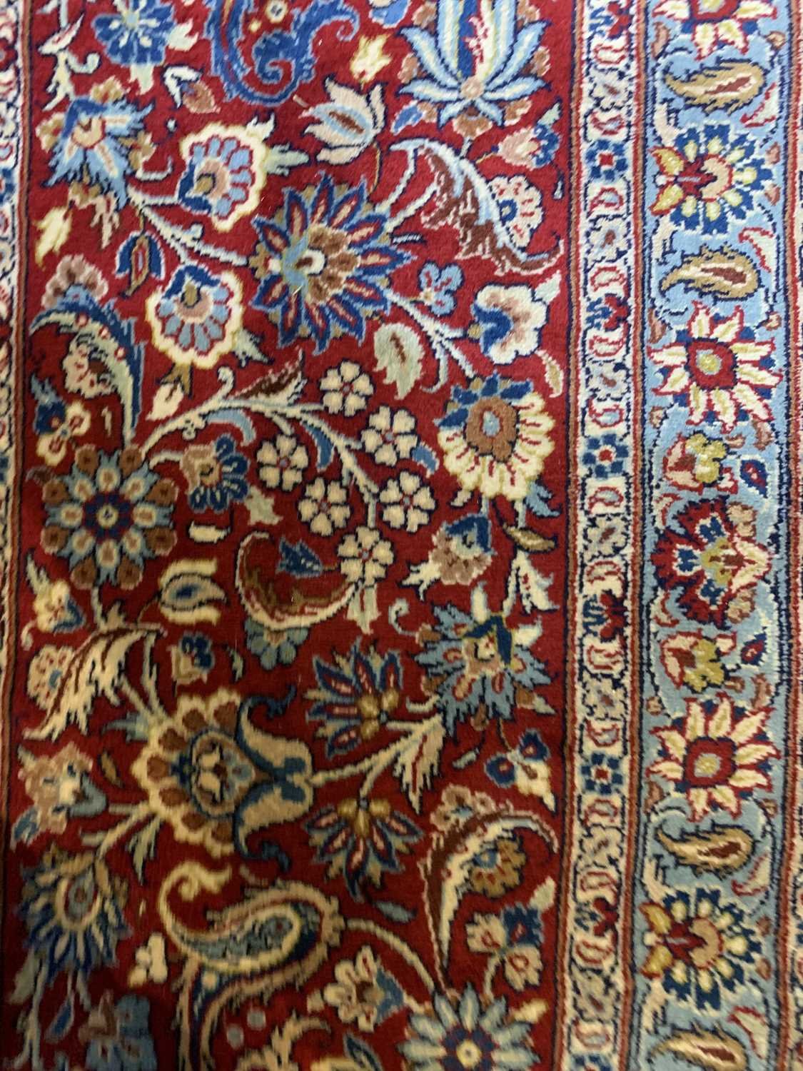 A large Persian Khorassan carpet, - Image 8 of 17