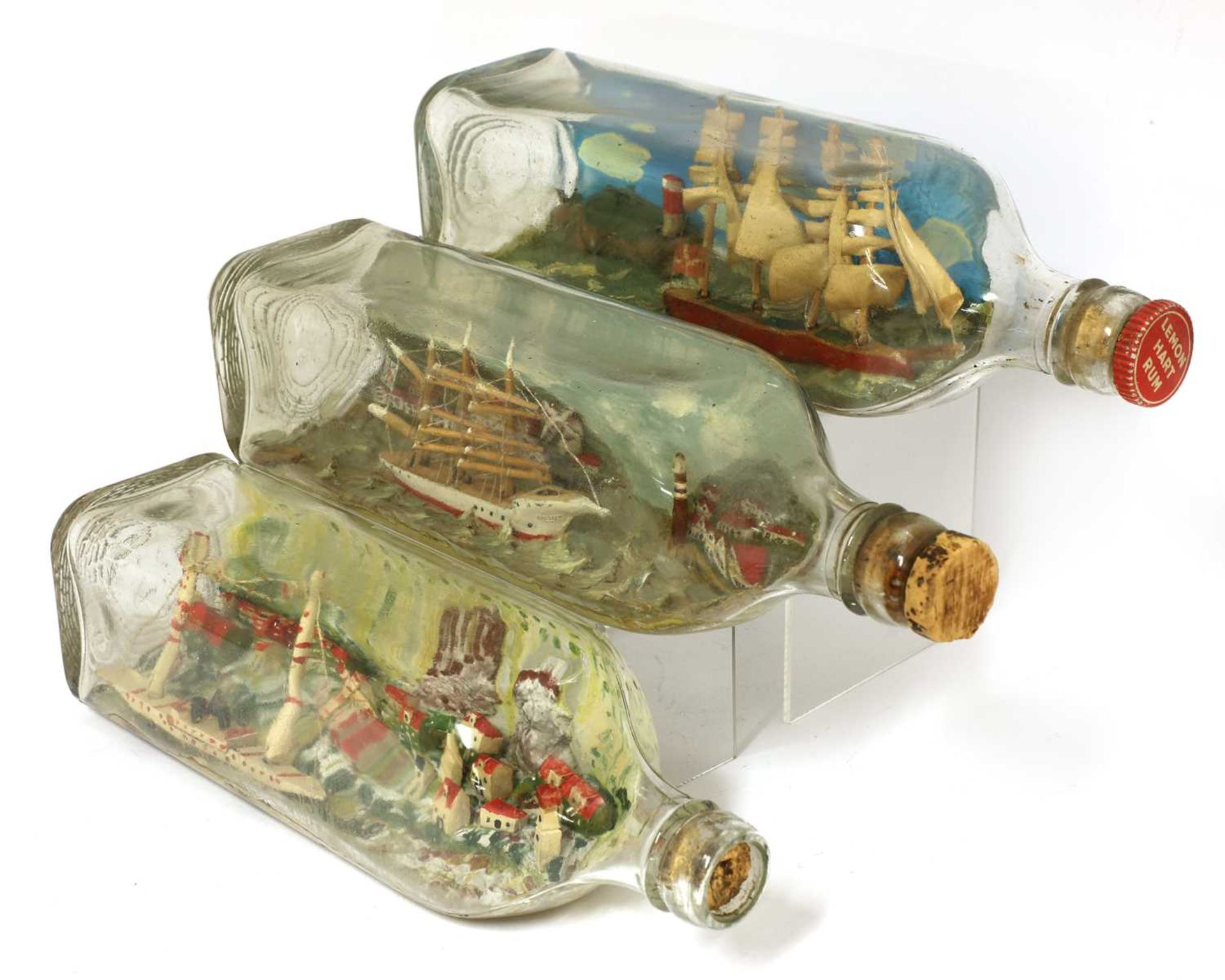Four ships in bottles - Image 2 of 3