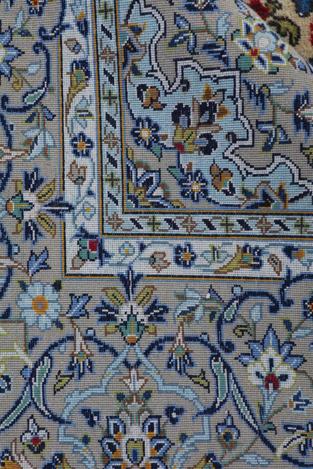 A Persian Kashan rug, - Image 2 of 7