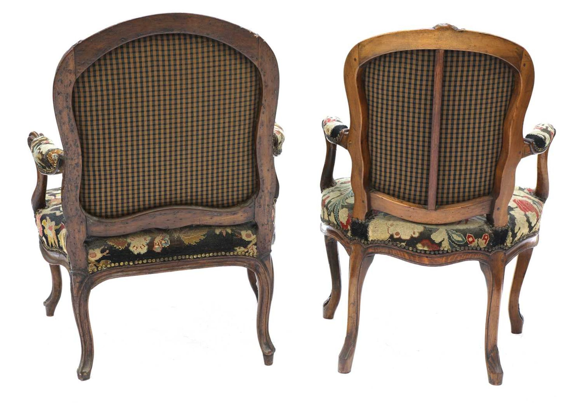 A French walnut-framed armchair, - Image 3 of 4