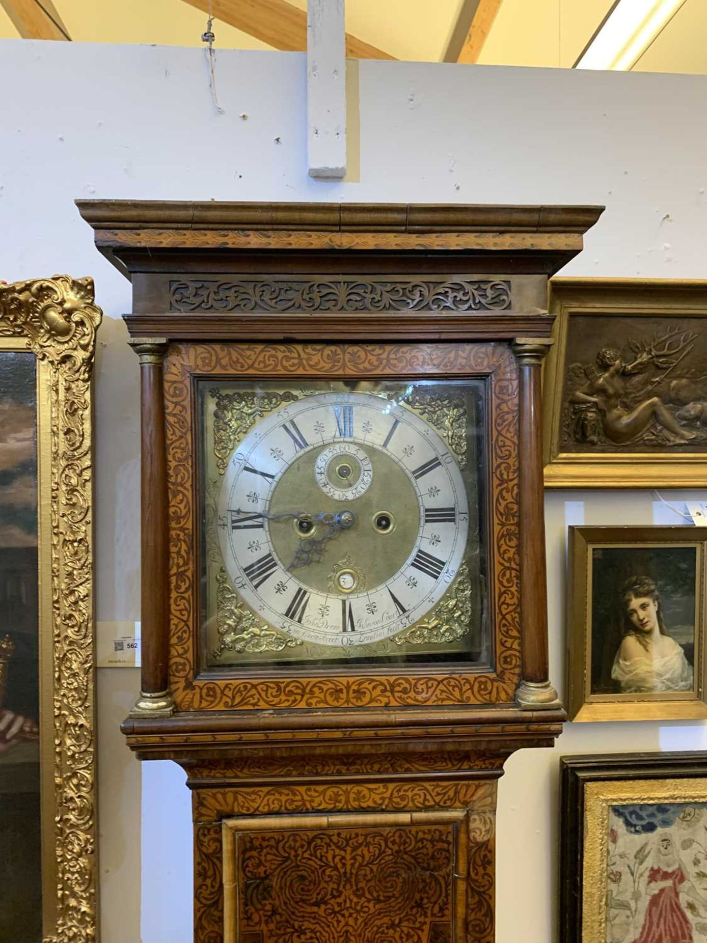 A seaweed marquetry and walnut longcase clock, - Image 5 of 24