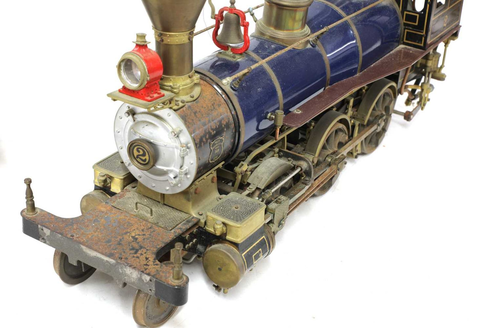 A 3½in gauge O S Porter 2-6-0 live steam coal fired Mogul locomotive and tender, - Image 3 of 5