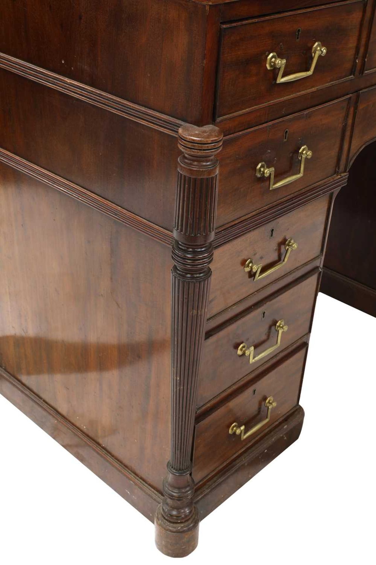 A George III mahogany architect's desk/secretaire, - Image 6 of 30