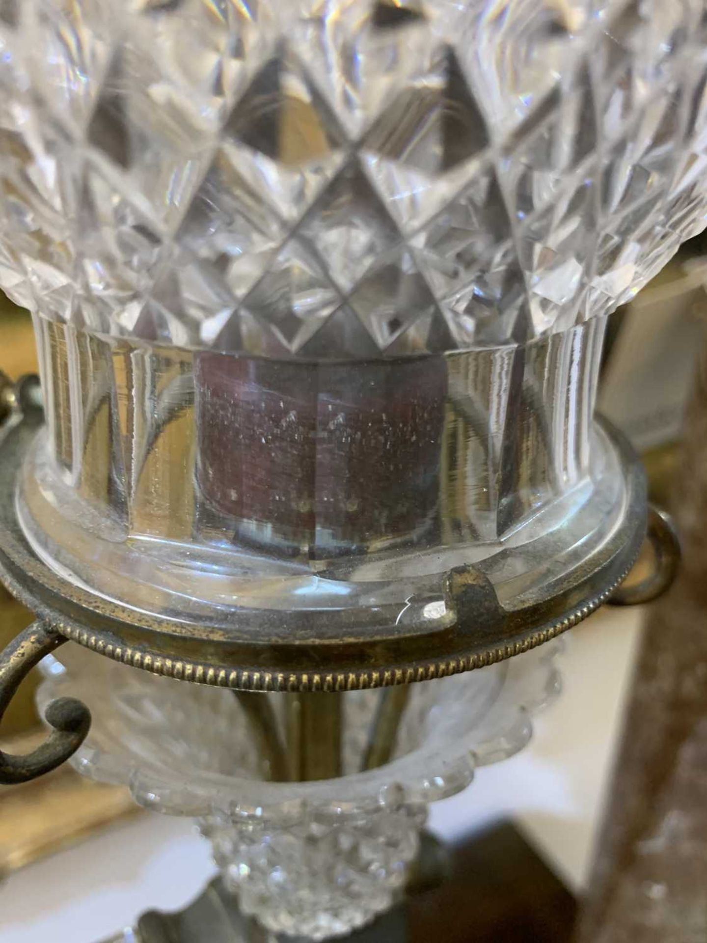 A pair of cut glass and gilt brass electric lamps, - Image 25 of 28