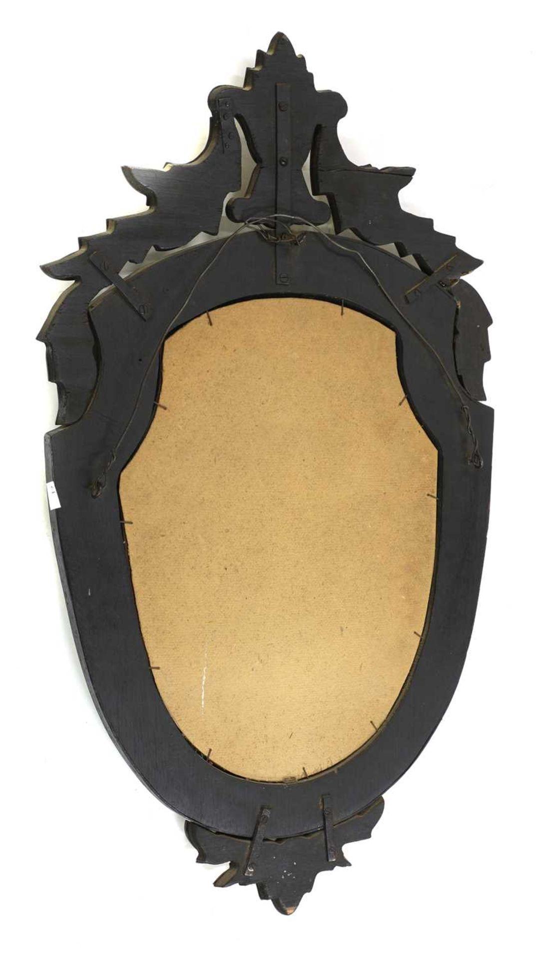A Venetian wall mirror, - Image 2 of 2