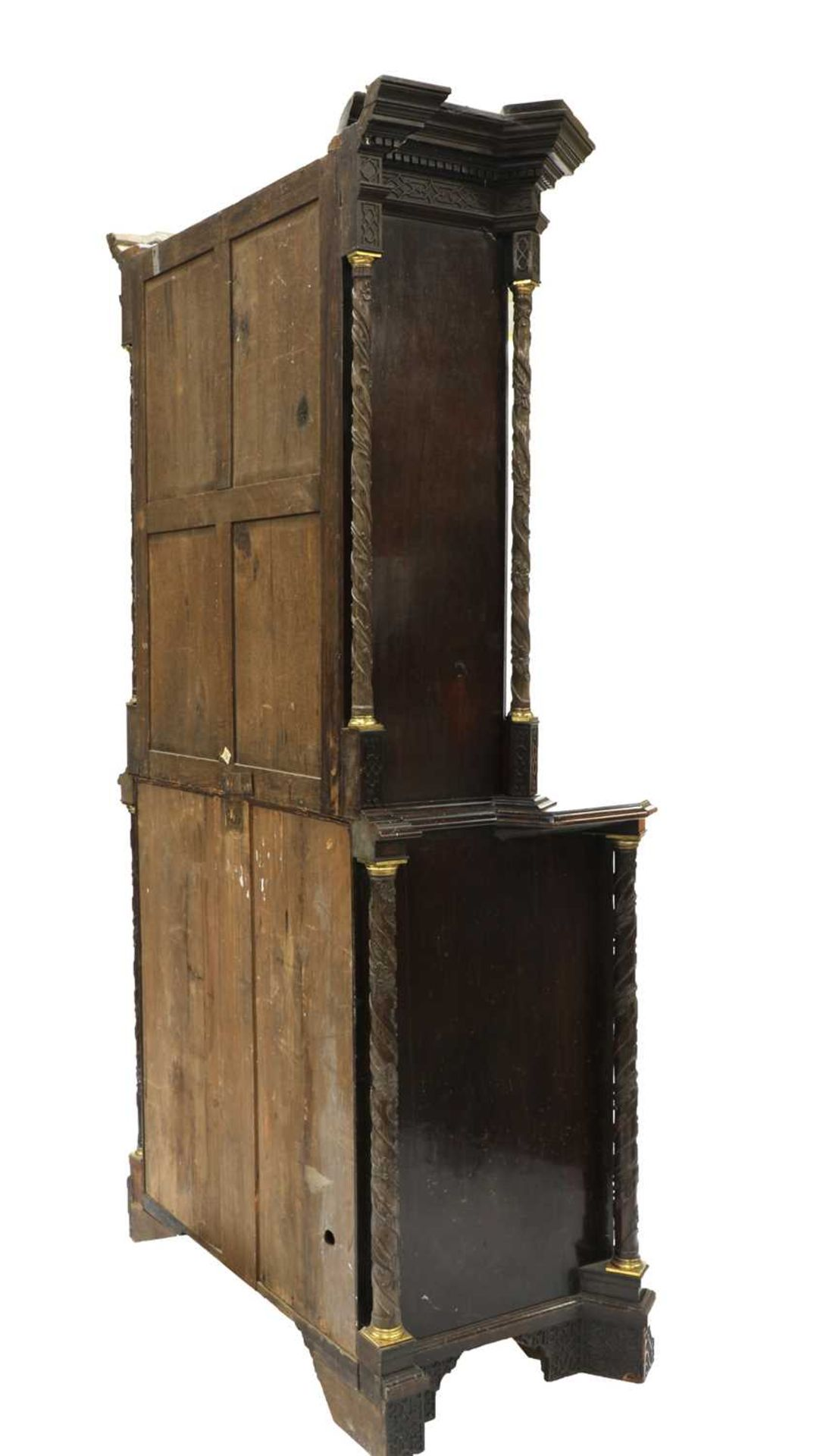 A Chippendale period mahogany secretaire bookcase, - Image 3 of 9