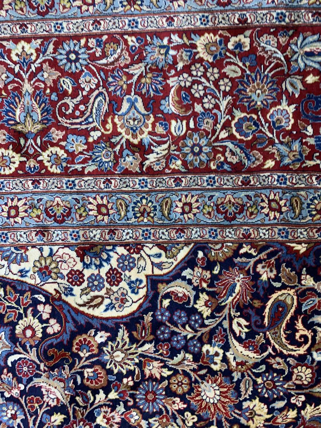 A large Persian Khorassan carpet, - Image 10 of 17