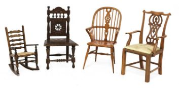 Four apprentice models of chairs,