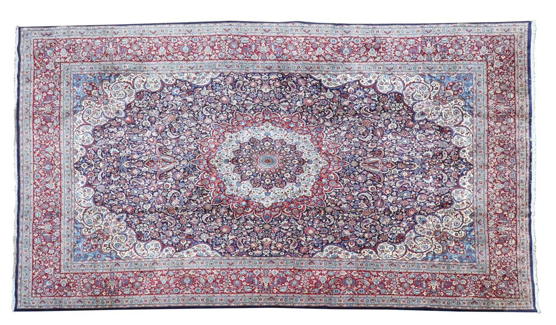 A large Persian Khorassan carpet,