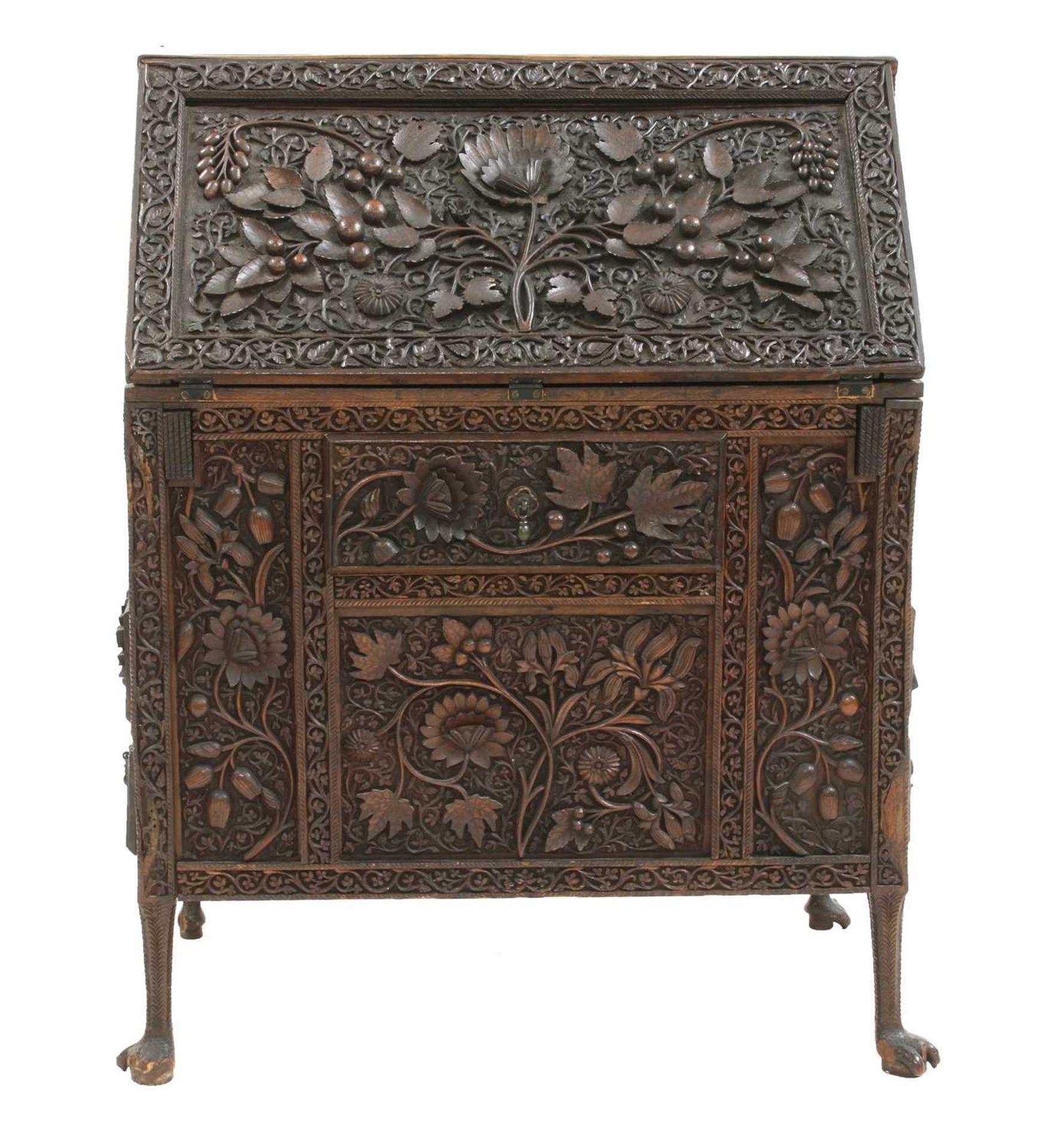 An Anglo-Indian rosewood bureau, - Image 2 of 10