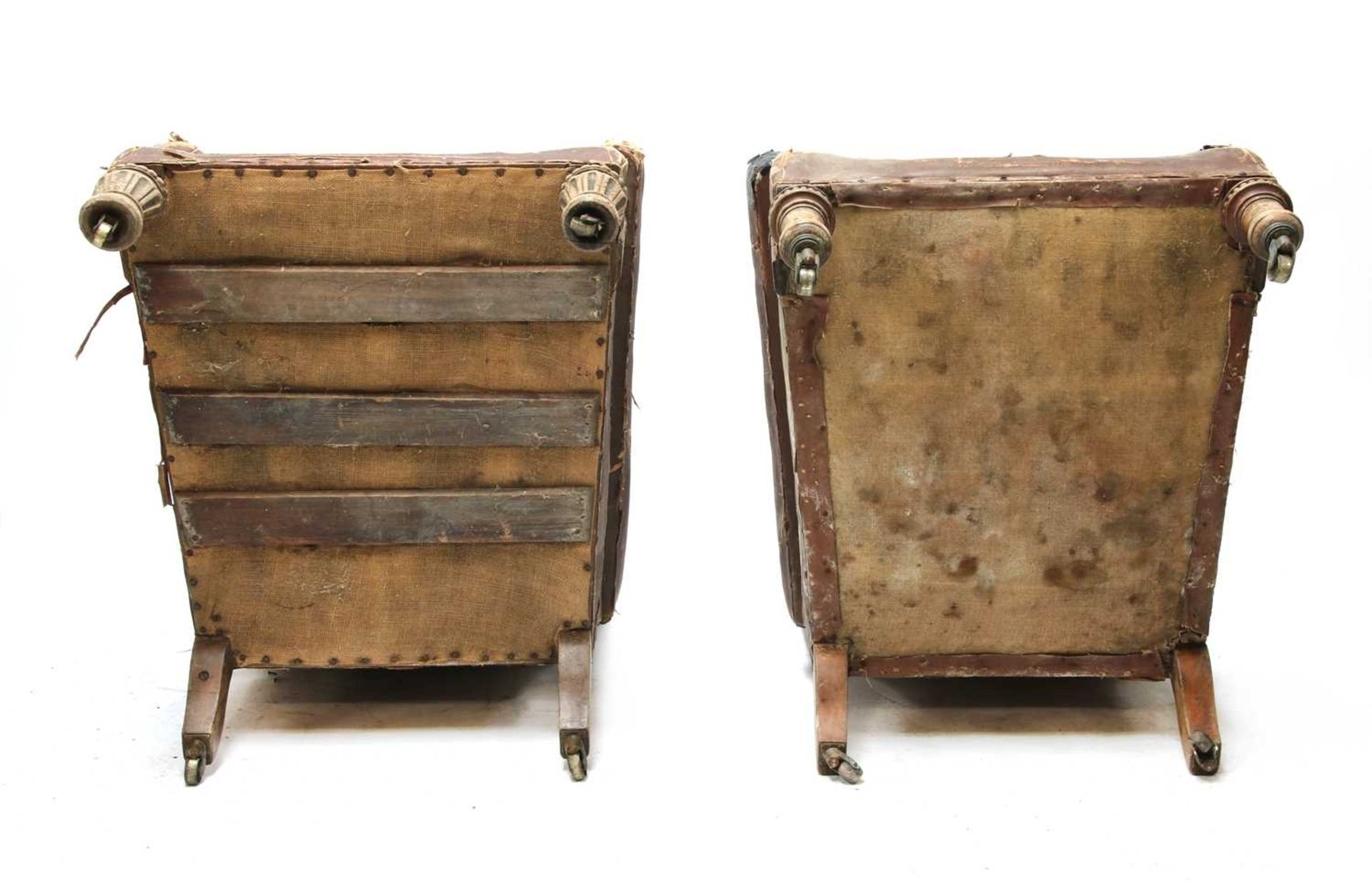 Two similar library armchairs by Gillow, - Image 7 of 7
