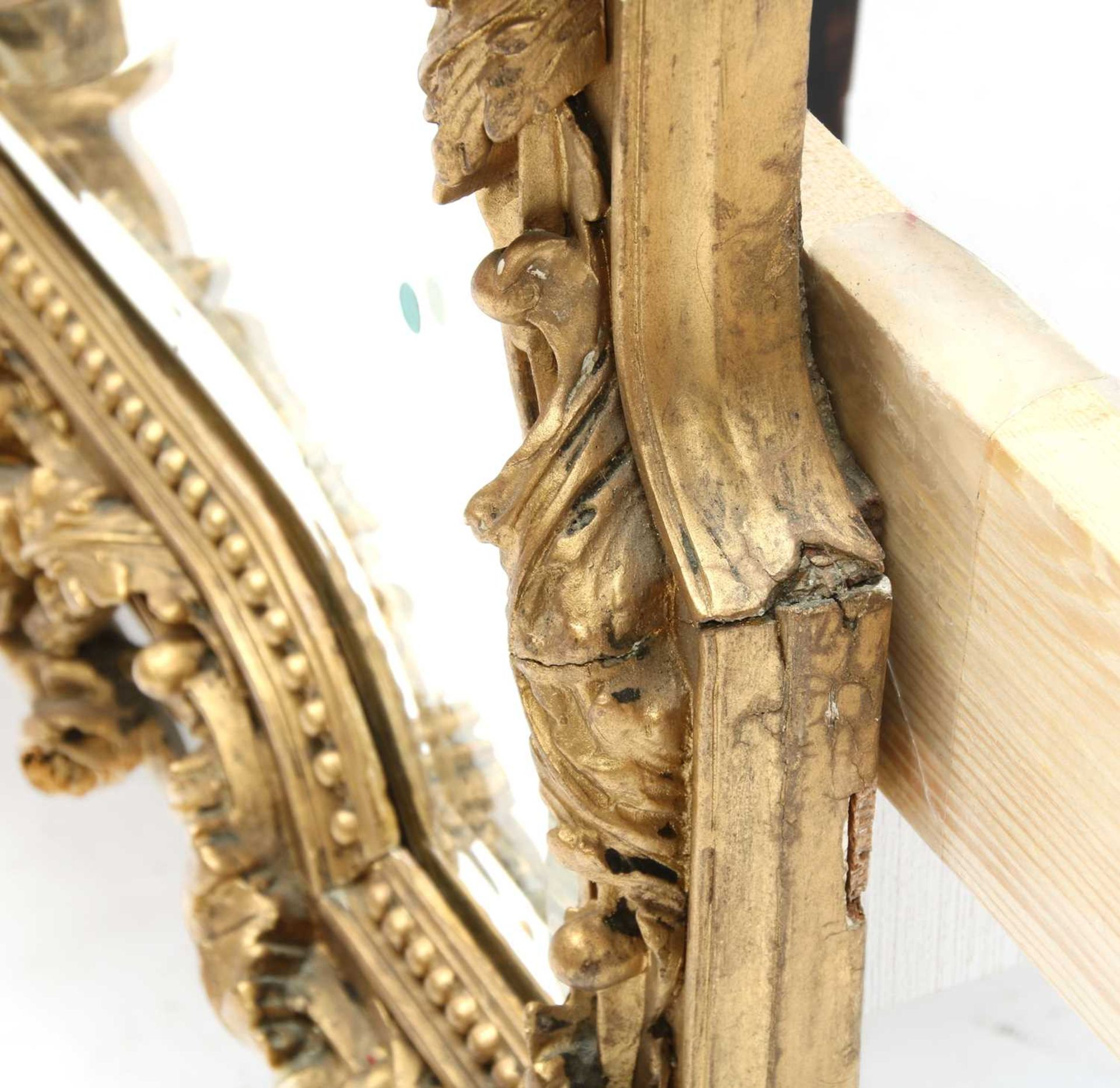 A French gilt gesso wall mirror, - Image 7 of 15