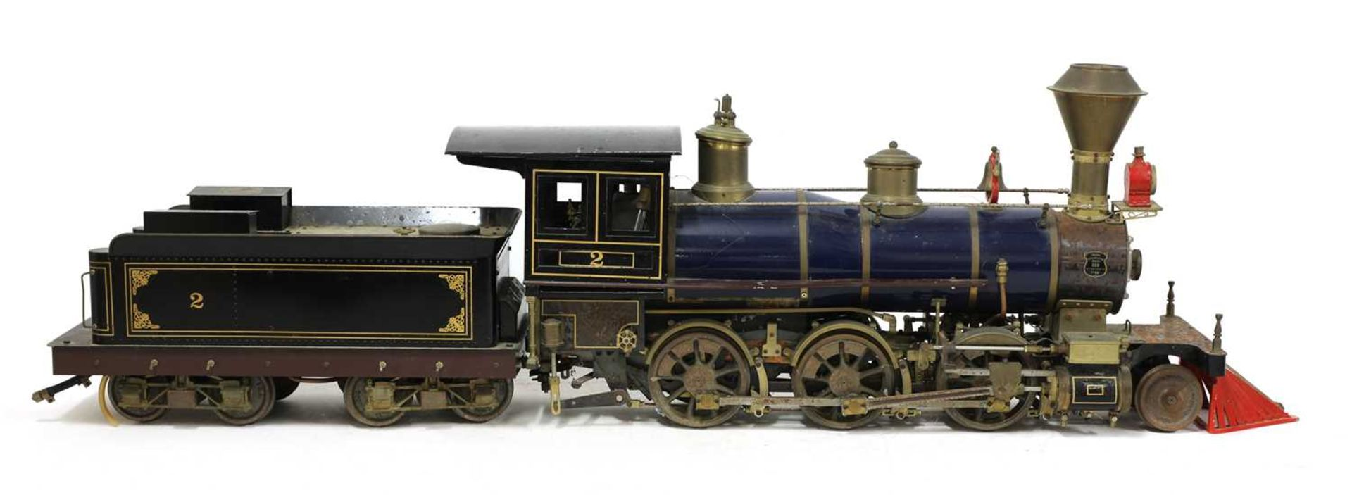 A 3½in gauge O S Porter 2-6-0 live steam coal fired Mogul locomotive and tender, - Image 2 of 5