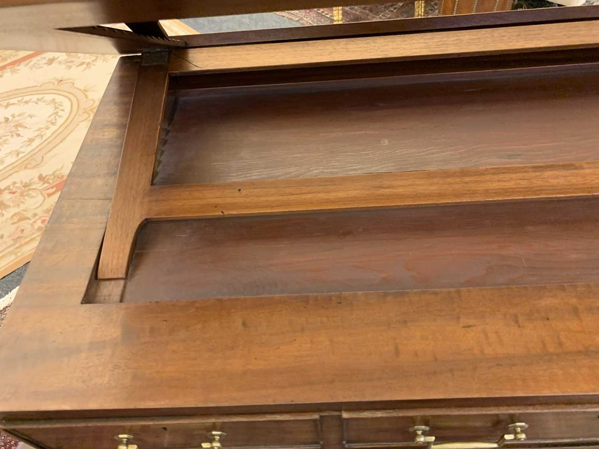 A George III mahogany architect's desk/secretaire, - Image 17 of 30