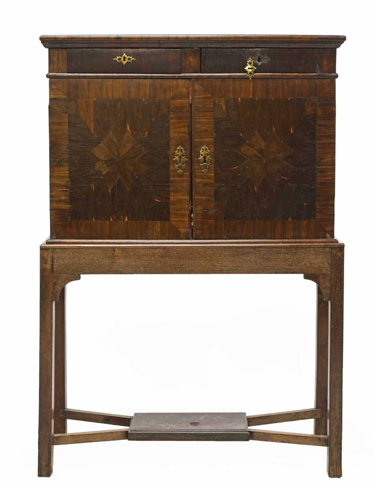 A Queen Anne cocus wood cabinet, - Image 2 of 42