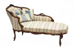 A Victorian chaise longue,