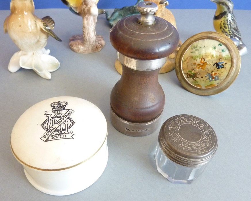 Lot 250 - An assortment of items to include three early 20th century continental porcelain figure models for