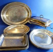 Early 20th century silver plate etc. to include entrée dishes, oval platters, circular dishes