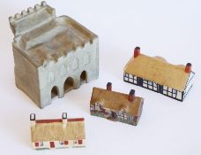 W. H. Goss, hand-decorated early 20th century porcelain models to include the largest 'The Bargate