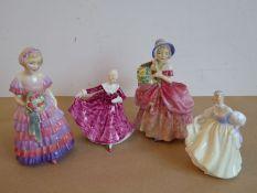 Four Royal Doulton figures 'The Little Bridesmaid' (HN 1433), 'Cissie' (HN 1809), ' Fair Lady' (HN
