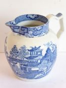 Swansea (Cambrian) Pottery, an early 19th century pearlware jug of baluster form, circa 1800/1810;