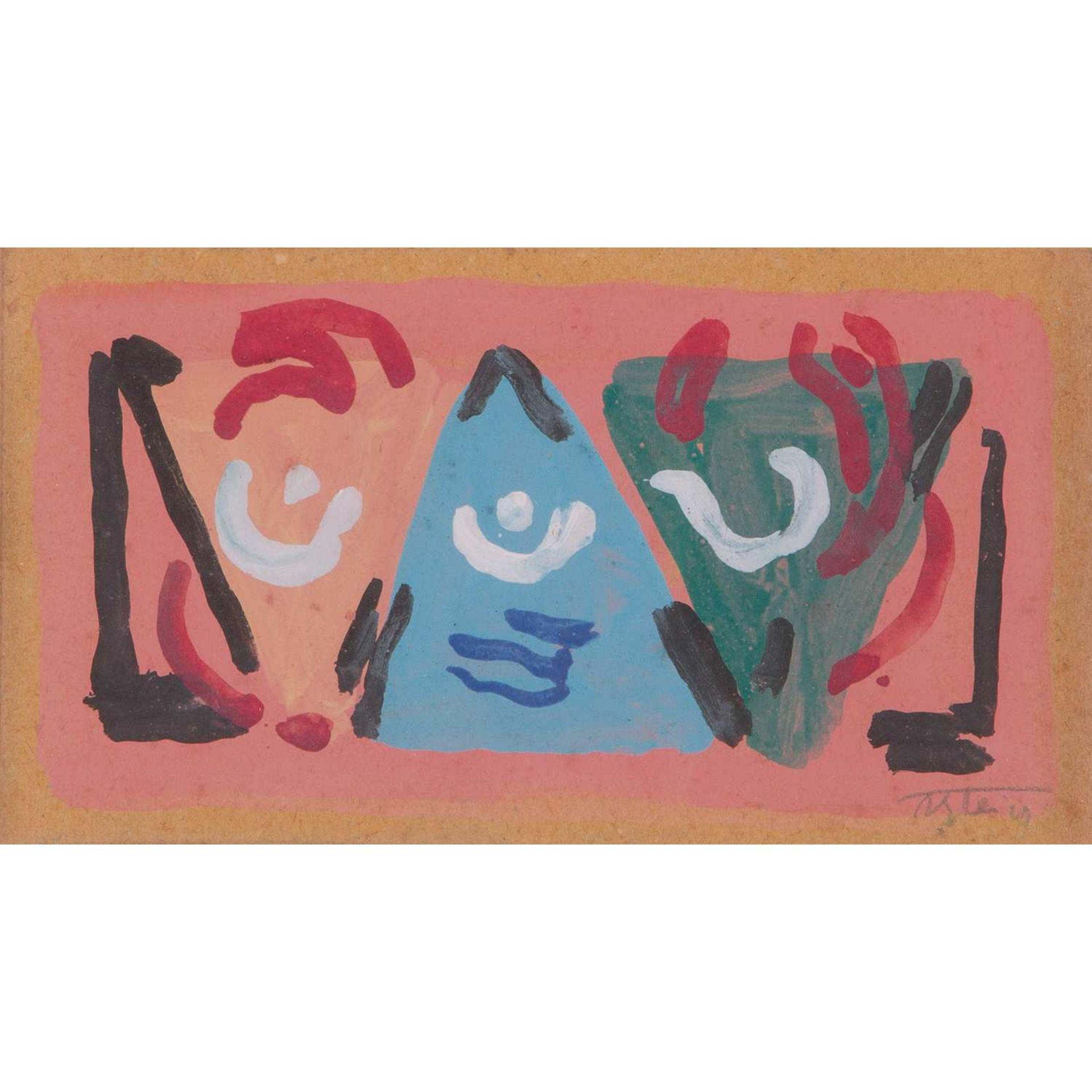 Los 7 - ALBERT GLEIZES (1881-1953) SANS TITRE, VERS 1946 Gouache sur papier Signée en bas à droite Gouache