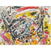 GEN PAUL (1895-1975) LE DUO: GROCK & PARTNER Gouache, aquarelle et encre sur papier Signée en bas