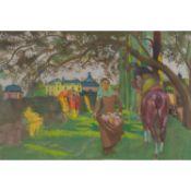 MAURICE DENIS (1870-1943) LE MIRACLE DE SAINTE ÉLISABETH DE HONGRIE (ROSANBO) Huile sur toile Oil on