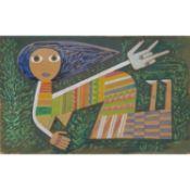 VICTOR BRAUNER (1903-1966) PERSONNAGE, 1949 Gouache et aquarelle sur papier Signée du monogramme