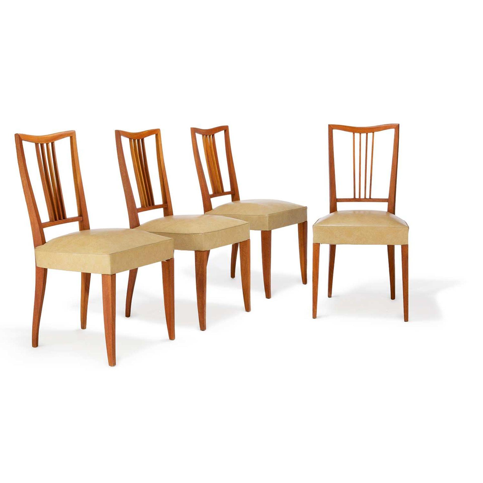Los 33 - DOMINIQUE - ANDRÉ DOMIN (1883-1962) & MARCEL GENEVRIÈRE (1885-1967) Suite de quatre chaises