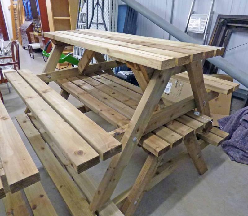 Lot 365 - PINE GARDEN PICNIC TABLE BENCH