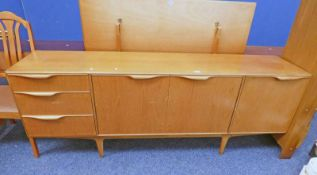TEAK SIDEBOARD WITH 3 DRAWERS AND 3 PANEL DOORS