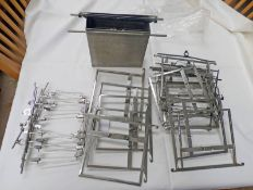 BOX OF SHEET FILM HOLDERS AND A STEEL TANK FOR SHEET FILM DEVELOPING,