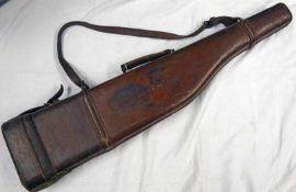 LEATHER LEG O MUTTON GUN CASE WITH J.D.B.S.