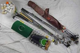 SELECTION OF GOLF CLUBS,