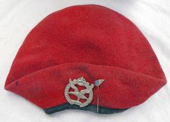 RED BERET WITH NO LABEL,